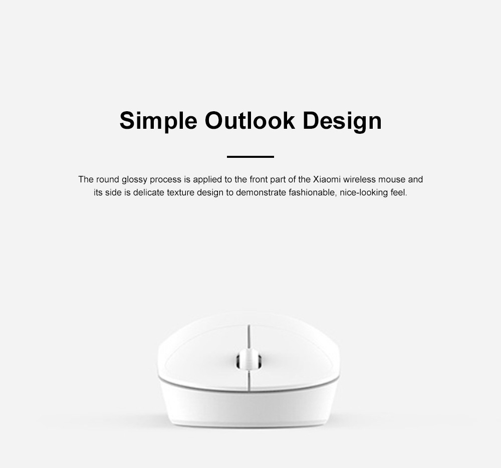 Xiaomi Wireless Mouse Youth Version for Home Office High Transmission Dual Button Laptop Mouse Accurate Positioning Mouse 3