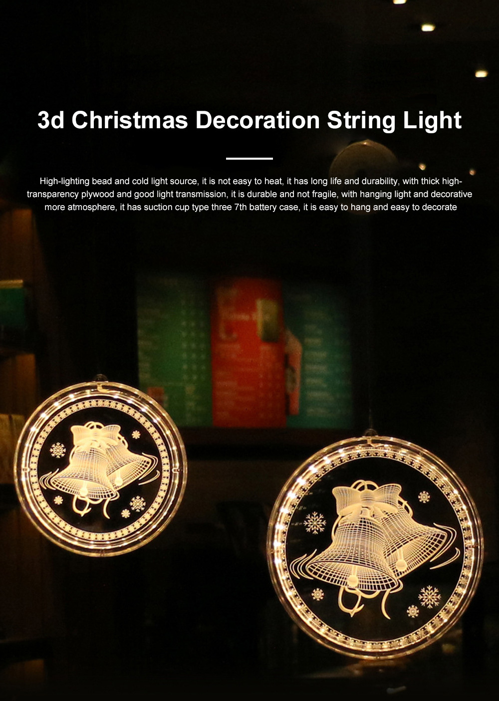 2019 Hot LED 3D Christmas Curtain Lights USB Window Curtain String Light Indoor Lights Bedroom Hotel Decoration 0