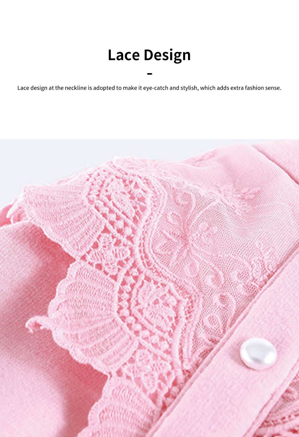 Warm Girl's One-piece Dress for Winter Autumn Fashion Grenadine Lace Princess Skirt with Buttons Pretty Long Sleeve Girls Dress 3