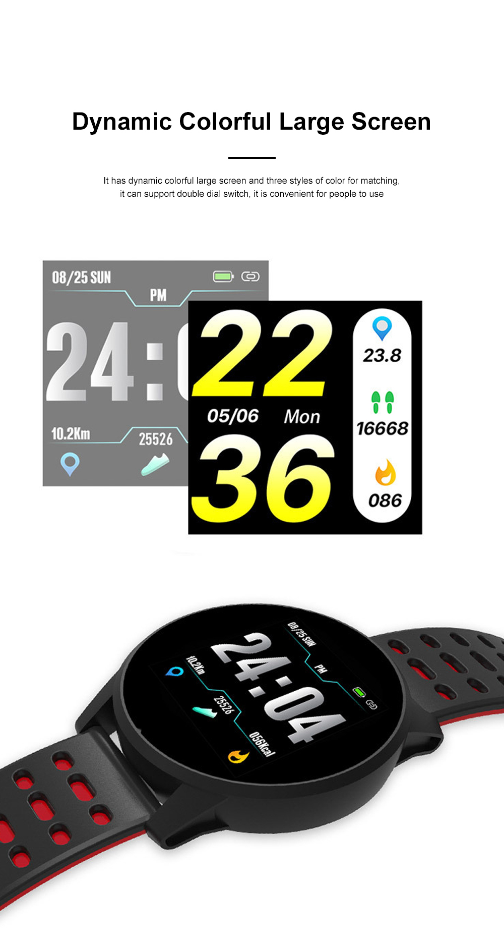2019 Hot Smart Watch Support Heart Rate Monitor Blood Pressure Bracelet for Ios Android Phone Sport Smart Watch 1