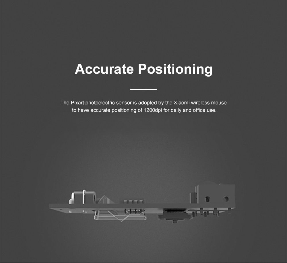 Xiaomi Wireless Mouse Youth Version for Home Office High Transmission Dual Button Laptop Mouse Accurate Positioning Mouse 2