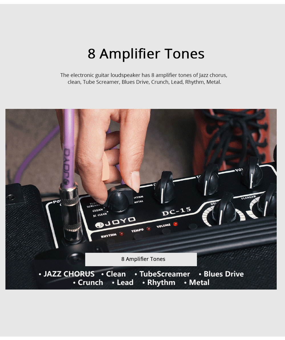 Electronic Guitar Loudspeaker with Digital Sound Effect Multi-timbral Guitar Loudspeaker Box Baffle Box 4