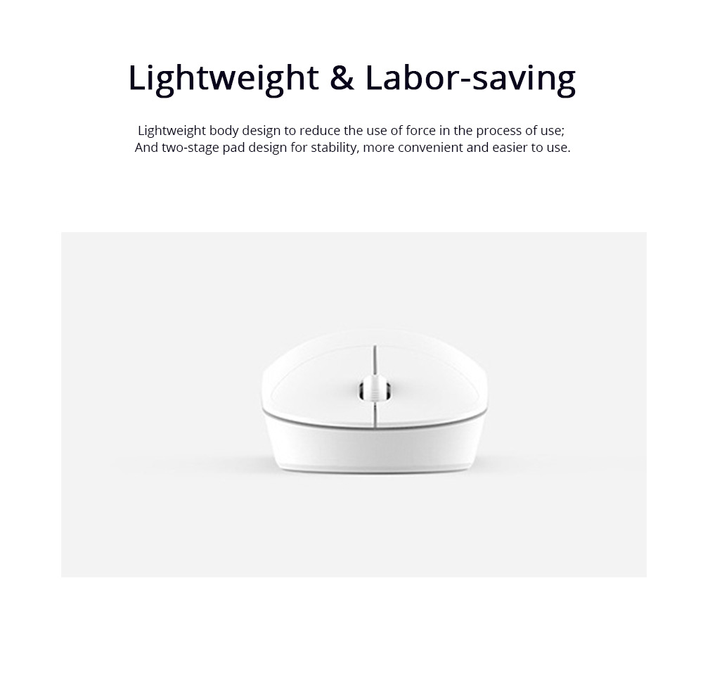 2 Button Wireless Mouse Rechargeable 1200DPI Computer Mouse with High Transmission Speed and Precise Positioning for XiaoMi 3