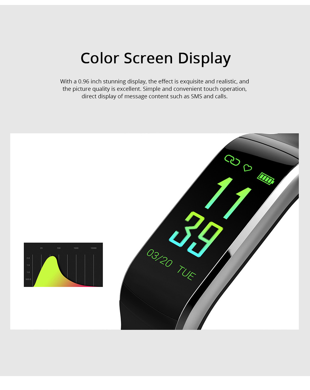 0.96'' TFT IP68 Waterproof Smart Sport Activity Tracker Color Screen Intelligent Tracker Fitness with GPS for Health Management Sleep Monitoring 2