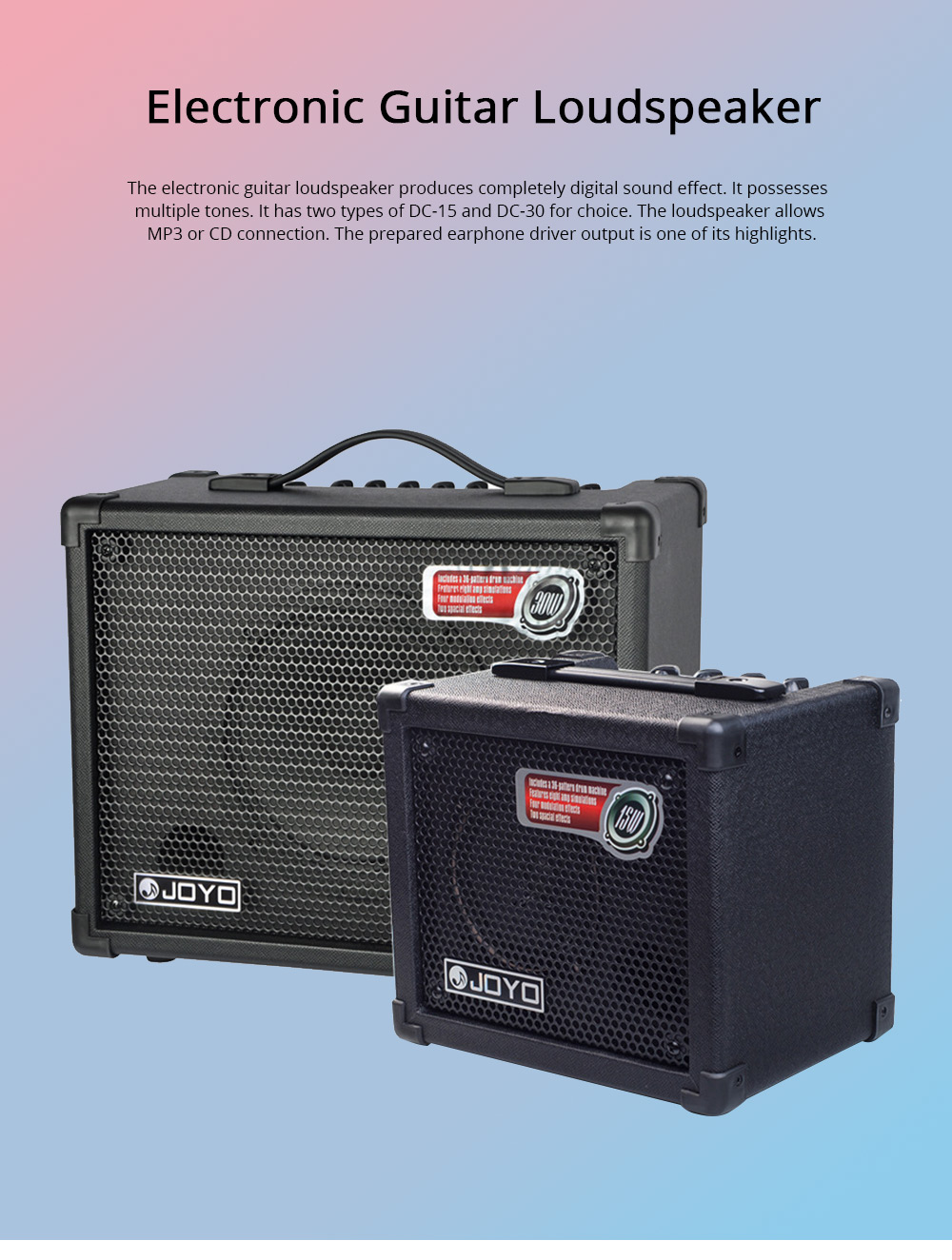 Electronic Guitar Loudspeaker with Digital Sound Effect Multi-timbral Guitar Loudspeaker Box Baffle Box 0