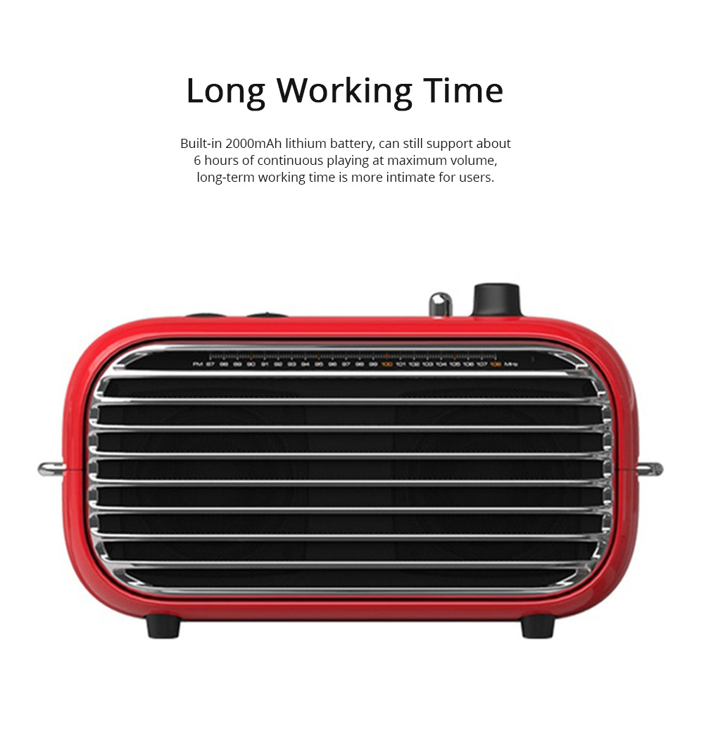 LOFREE Retro Bluetooth V4.2 Speaker Portable Speaker with Built-in 2000mAh Lithium Battery and AUX Line Best Christmas Gift 7