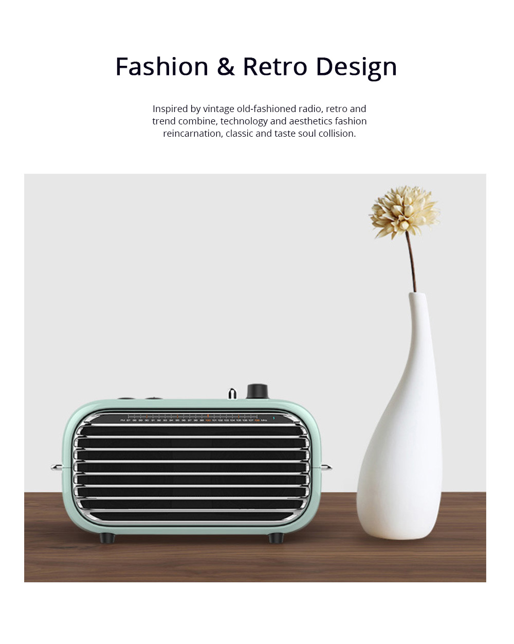 LOFREE Retro Bluetooth V4.2 Speaker Portable Speaker with Built-in 2000mAh Lithium Battery and AUX Line Best Christmas Gift 1