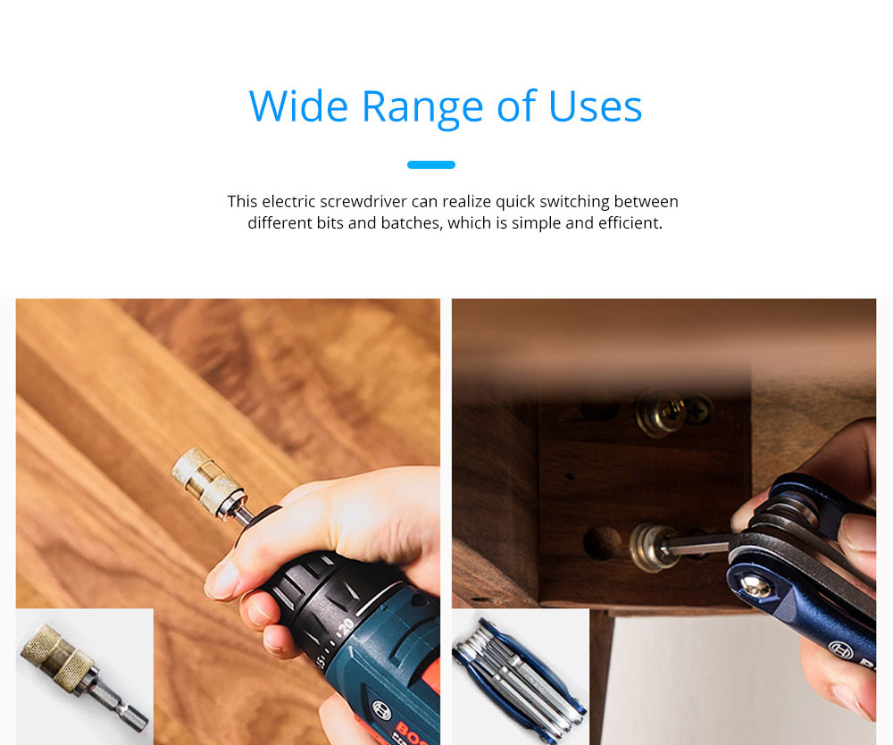 Bosch Household Multifunctional Electric Screwdriver Manual Electric Drill Set Tool 4