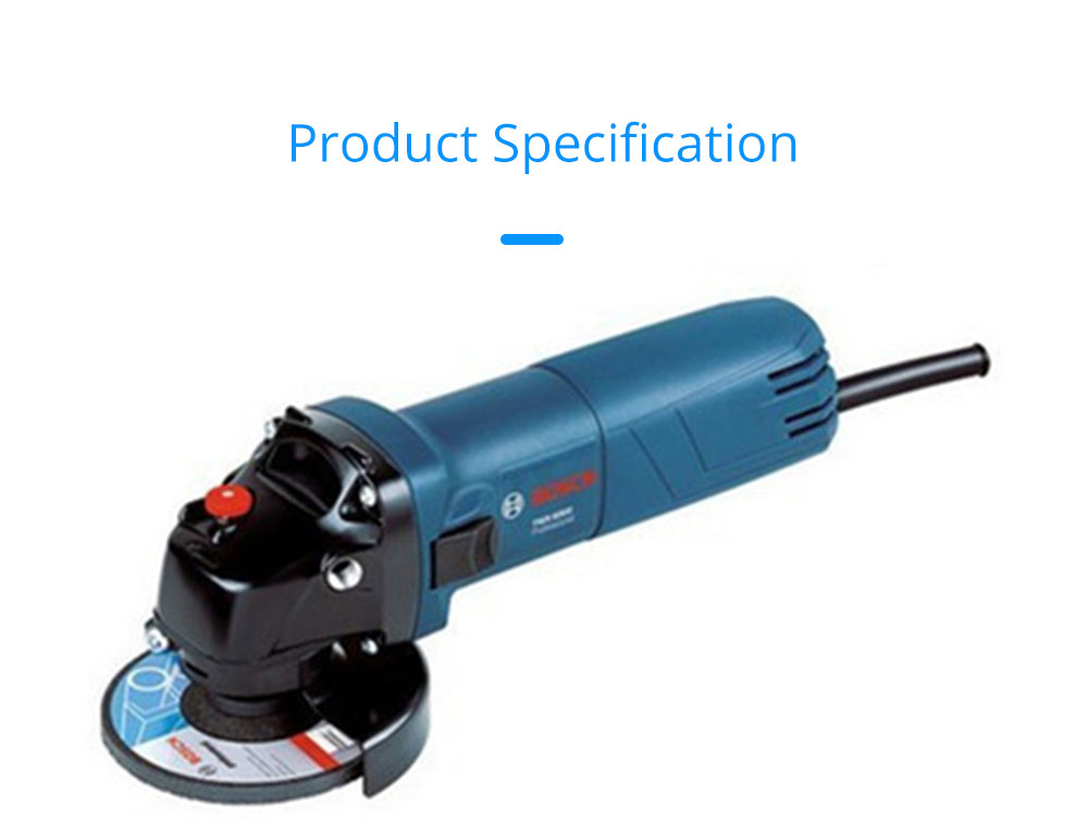 BOSCH Electric Tools Multifunctional Angle Grinder Polishing Grinder Cutting Electric Grinder 7