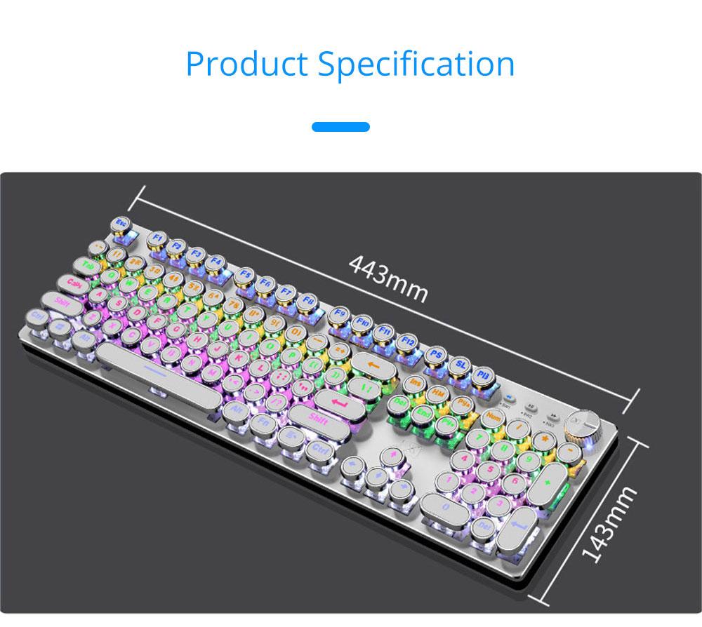 Steam Punk Keyboard Real Mechanical Keyboard Internet Bar Game Keyboard 10