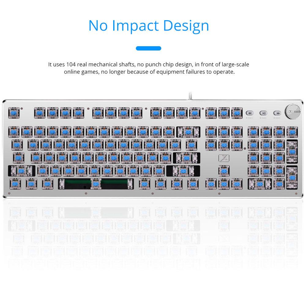 Steam Punk Keyboard Real Mechanical Keyboard Internet Bar Game Keyboard 6