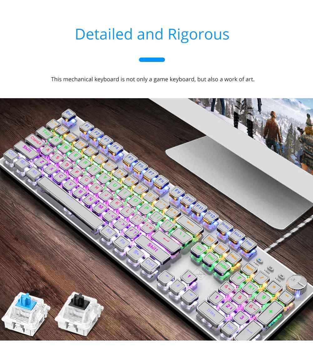 Steam Punk Keyboard Real Mechanical Keyboard Internet Bar Game Keyboard 3