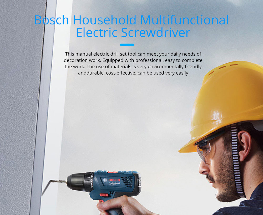 Bosch Household Multifunctional Electric Screwdriver Manual Electric Drill Set Tool 0