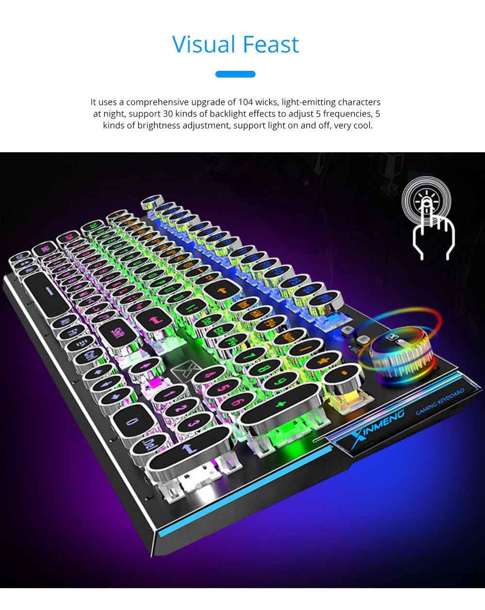 Steam Punk Keyboard Real Mechanical Keyboard Internet Bar Game Keyboard 5