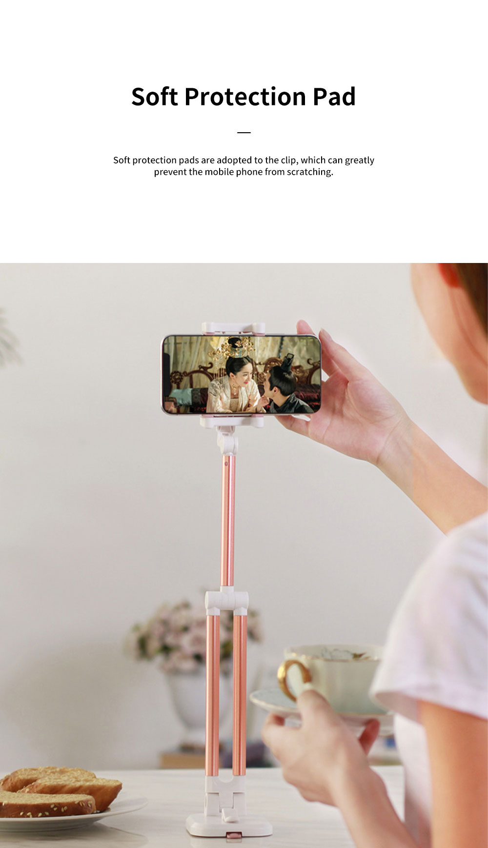 Multifunctional Stretchable Selfie Stick with Sucker Multi-angle Rotatable Foldable Mobile Phone Supporter Holder 5