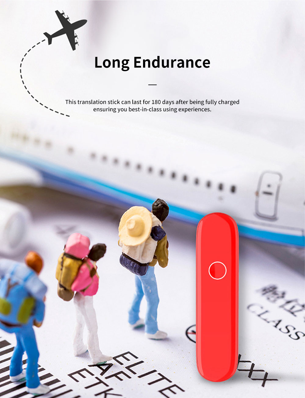 Easy Operation Long Endurance Portable Six Languages Interpreter Translation Stick Go Abroad Traveling Assistant 4