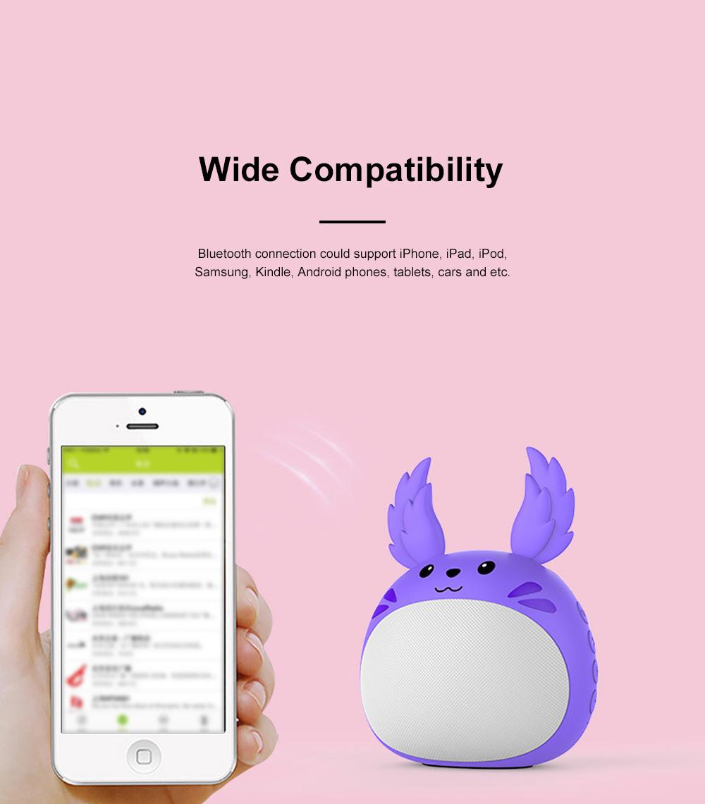 Portable Bluetooth Speaker Stereo Pairing Speaker High Definition Sound Cute Cartoon Wireless Speaker Ideal Gift for Girls Kids 4