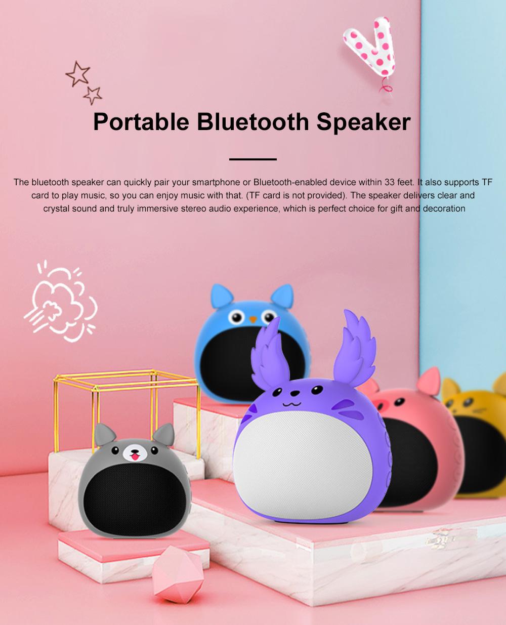 Portable Bluetooth Speaker Stereo Pairing Speaker High Definition Sound Cute Cartoon Wireless Speaker Ideal Gift for Girls Kids 0