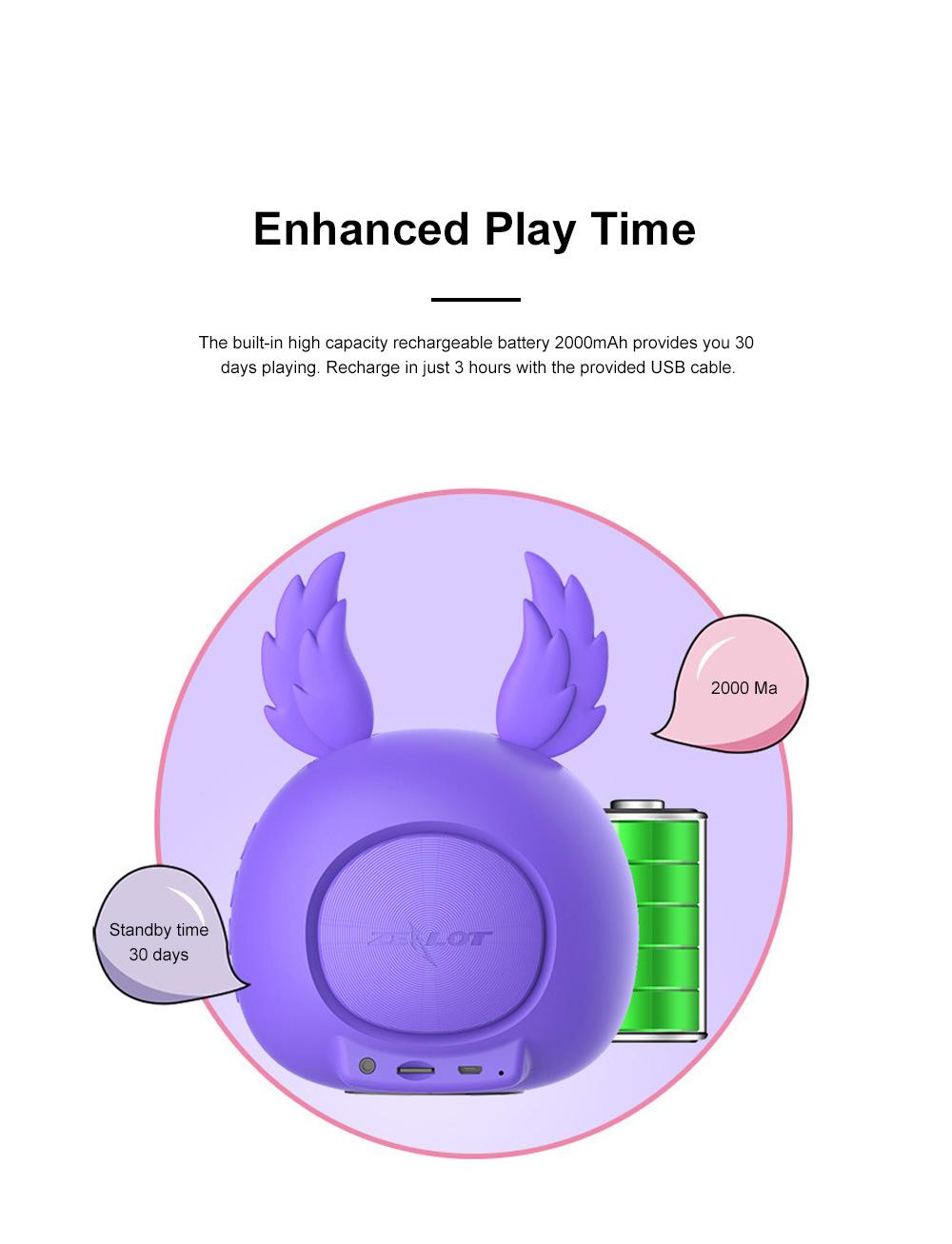 Portable Bluetooth Speaker Stereo Pairing Speaker High Definition Sound Cute Cartoon Wireless Speaker Ideal Gift for Girls Kids 1