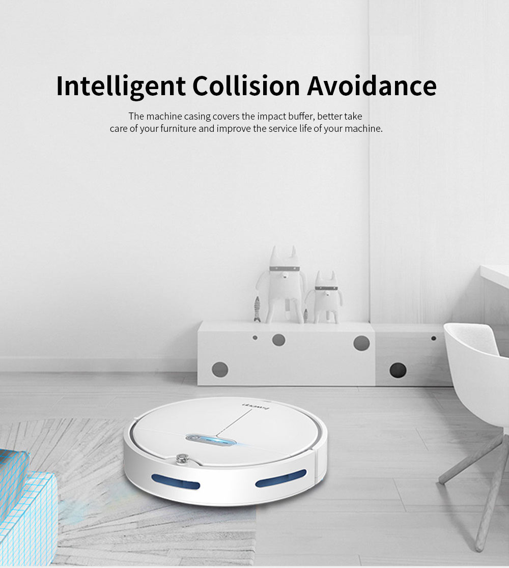 Sweeping Robot Automatically Recharge Cleaner with 1200Pa Strong Suction Remote Control Anti-Collision Sensor for House Cleaning 6