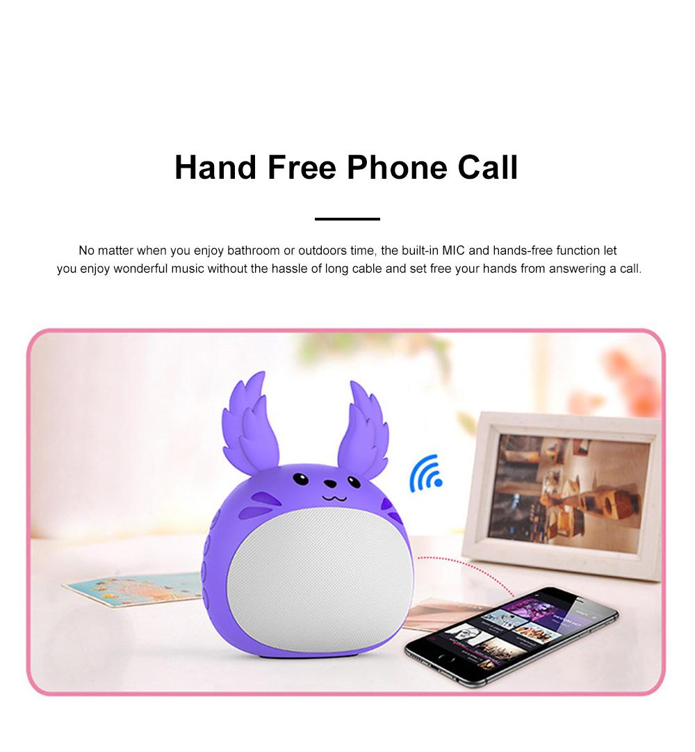 Portable Bluetooth Speaker Stereo Pairing Speaker High Definition Sound Cute Cartoon Wireless Speaker Ideal Gift for Girls Kids 3