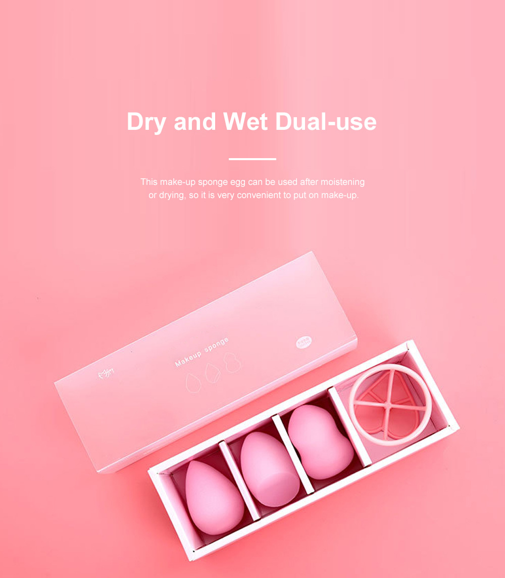Cosmetic Sponge Egg Dry and Wet Gourd Puff Cosmetic Sponge Egg Cosmetic With Sponge Egg Shelf 3pcs Gift Box 4