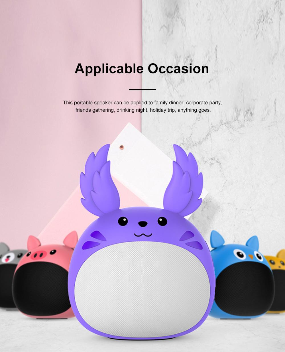 Portable Bluetooth Speaker Stereo Pairing Speaker High Definition Sound Cute Cartoon Wireless Speaker Ideal Gift for Girls Kids 6