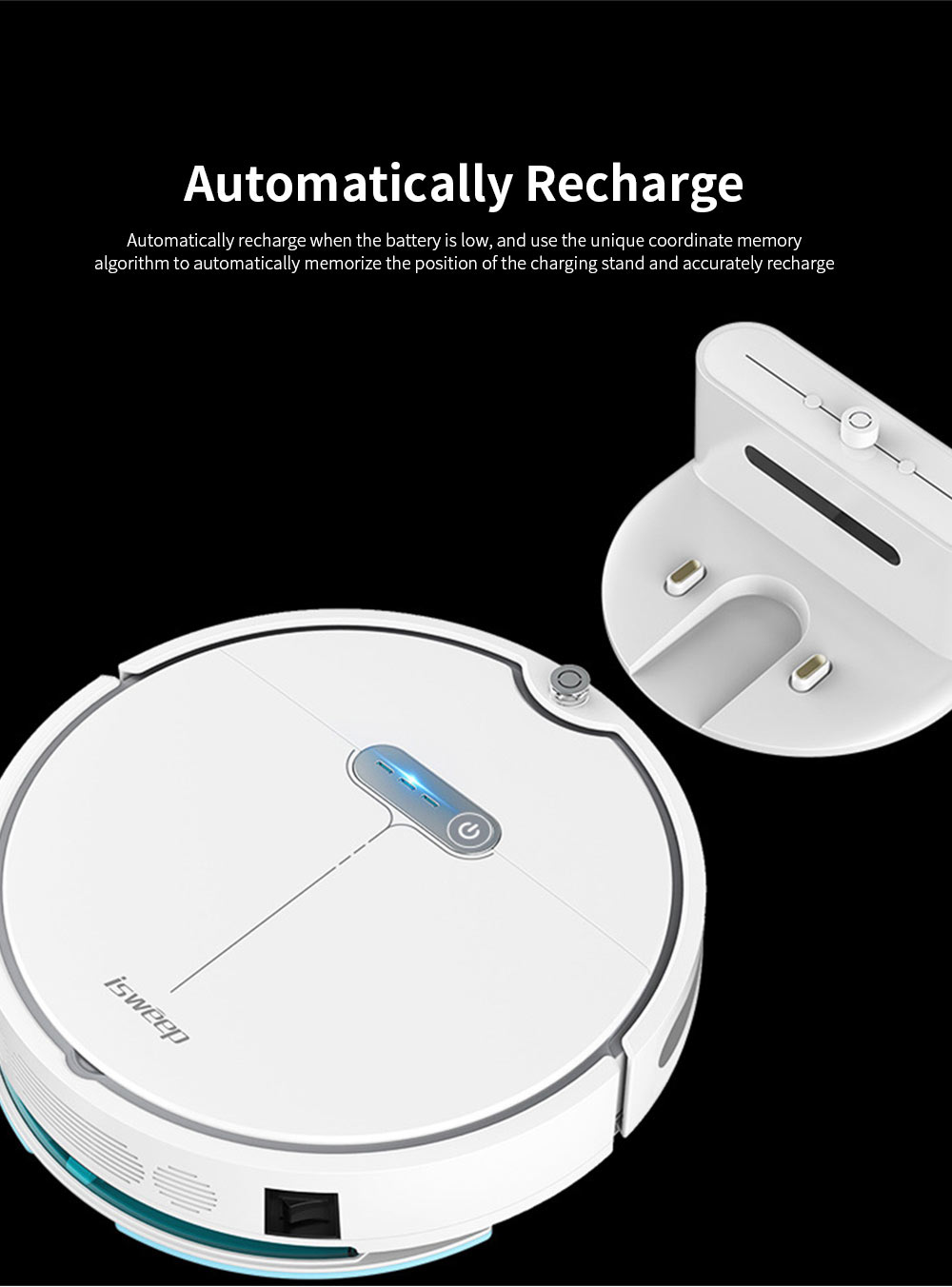 Sweeping Robot Automatically Recharge Cleaner with 1200Pa Strong Suction Remote Control Anti-Collision Sensor for House Cleaning 5