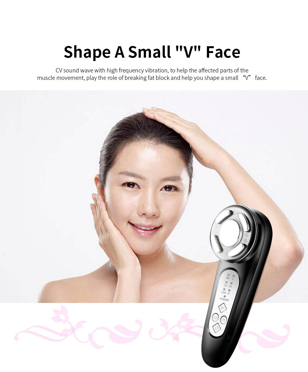 Ultrasonic Skin Tightening Machine Facial Body Massager Portable Beauty Equipment with LED Color for Wrinkle Remover Anti-aging 2