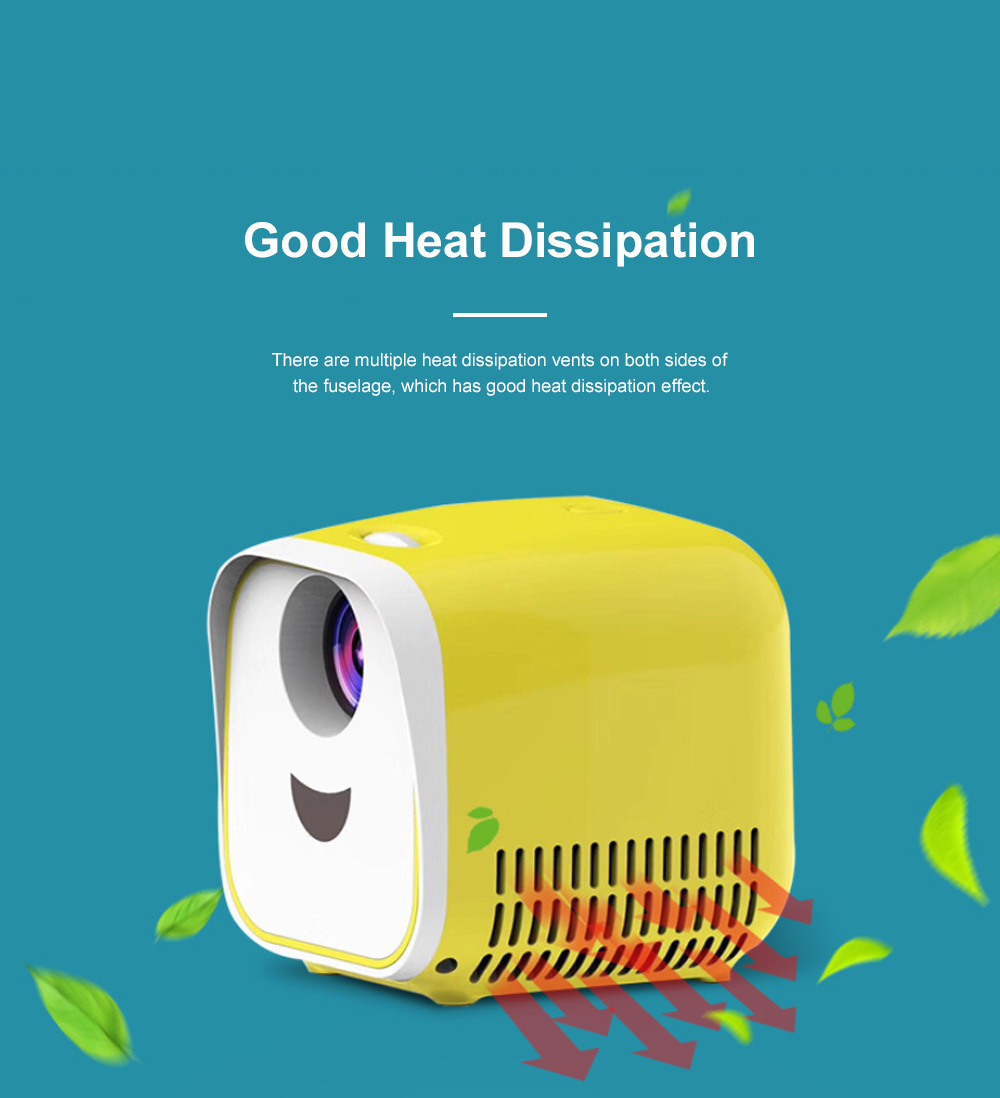 Mini Projector 1080P HDMI USB SD TF Card LED Video Projector Compatible with iPhone Android Laptops Tablets Home Theater Movie Projector for Kids Family 1