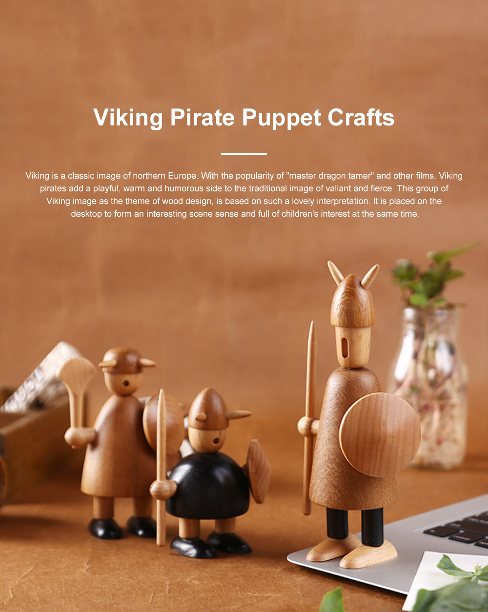 Viking Pirate Puppet Crafts Danish Creative Gifts Nordic Style Home Furnishings Decoration 0