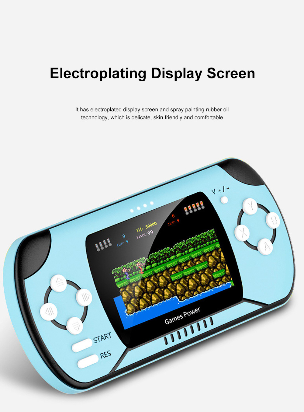 Dual Use Retro Game Machine Charger Palm Nostalgic Game Machine Portable Large Capacity Wireless Mobile Power Charger 7