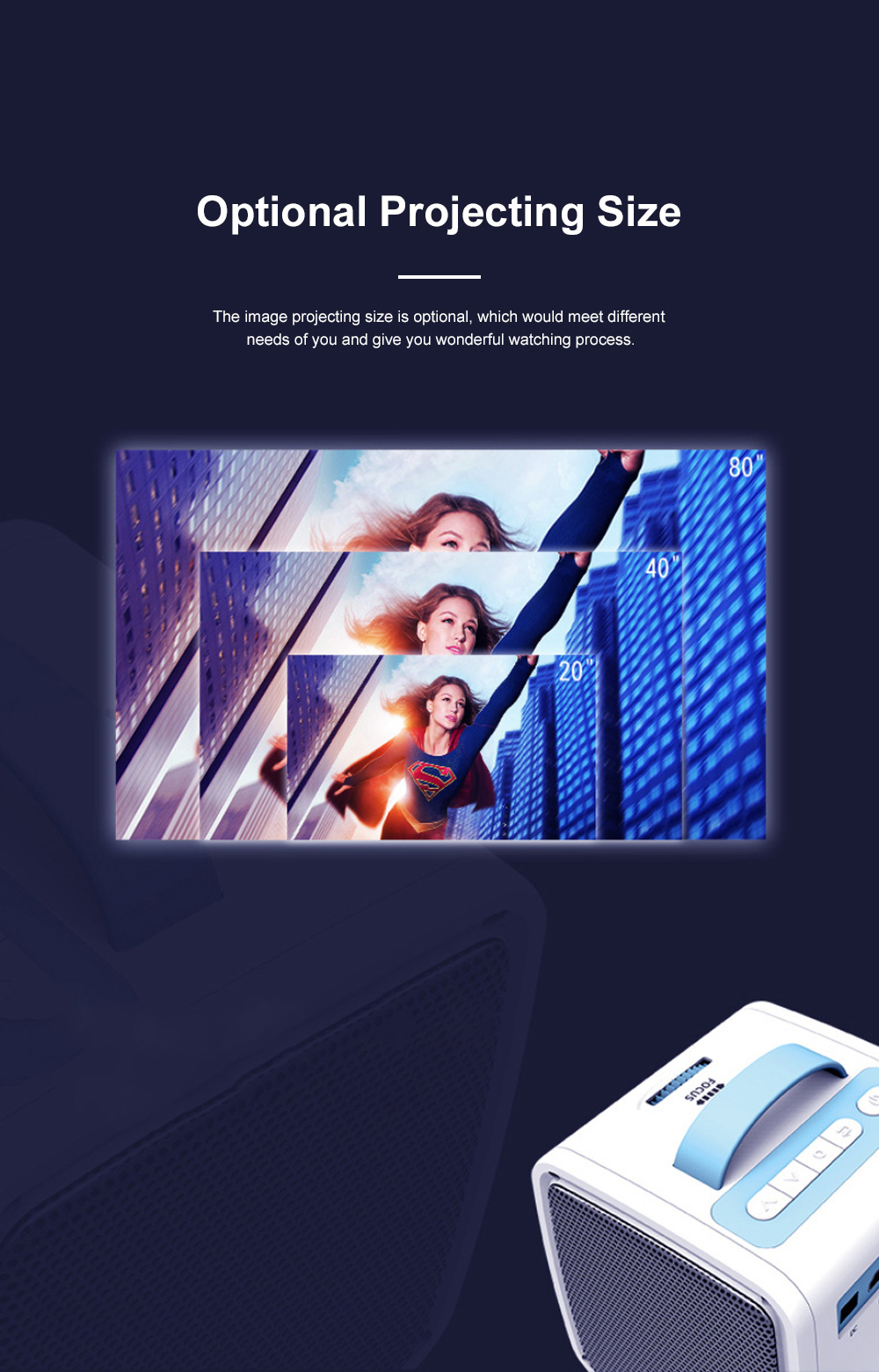 Portable Q2 Mini Household Children High Definition LED Projector Easy Operation Multiple Video Input Modes 4