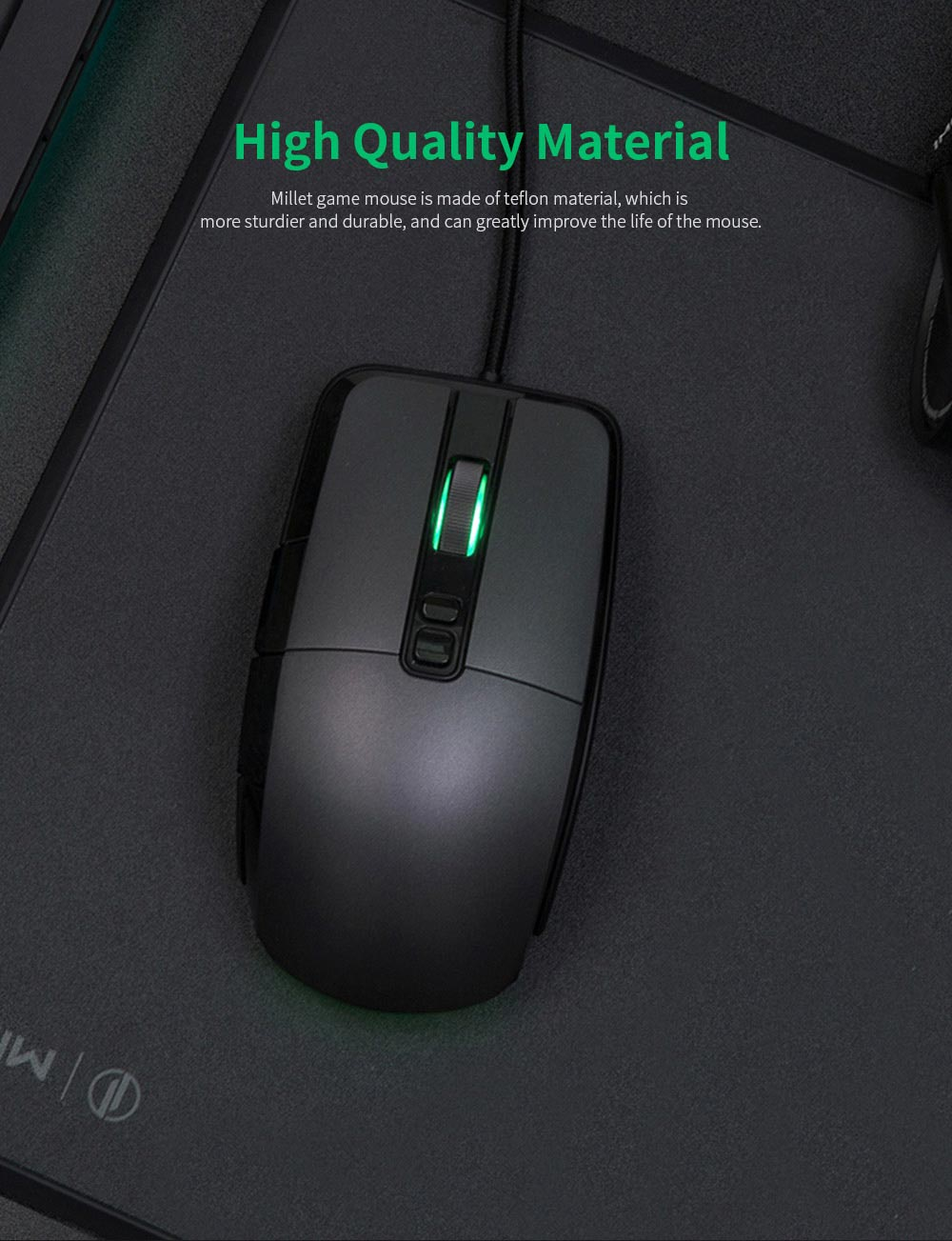 Xiaomi Gaming Mouse 7200DPI Wired Wireless Dual Mode Computer Mouse with Ergonomics Design and RGB Colorful Lights 7
