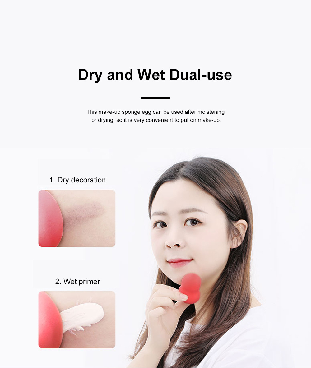 Cosmetic Sponge Egg Dry and Wet Gourd Puff Cosmetic Sponge Egg Cosmetic With Sponge Egg Shelf 3pcs Gift Box 6