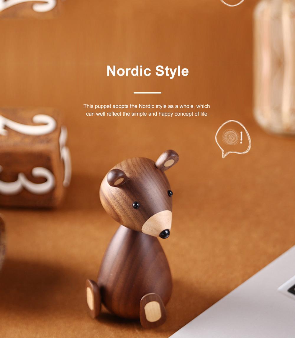 Nordic Creative Puppets Walnut Bears Danish Squirrels Creative Home Furnishings Birthday Gifts 4