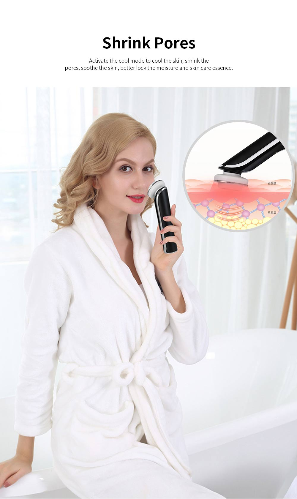 Facial Cleansing Machine Electric Facial Pore Cleaner for Face Lifting Deep Cleaning Wrinkle Remover Skin Tighten 4