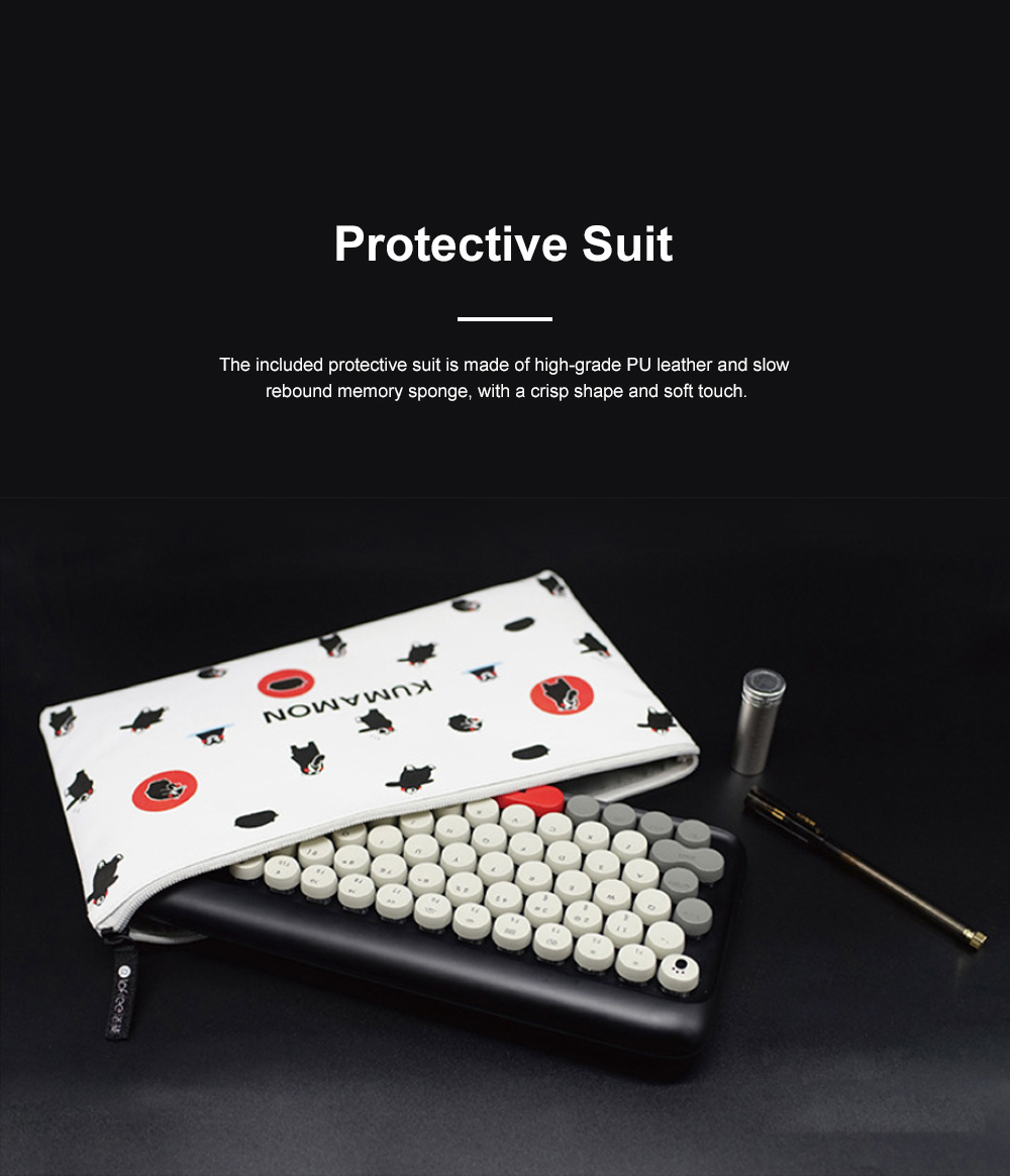LOFREE Kumamon Dot Bluetooth Mechanical Keyboard Laptop Tablet IPAD Wireless Retro Keyboard 2