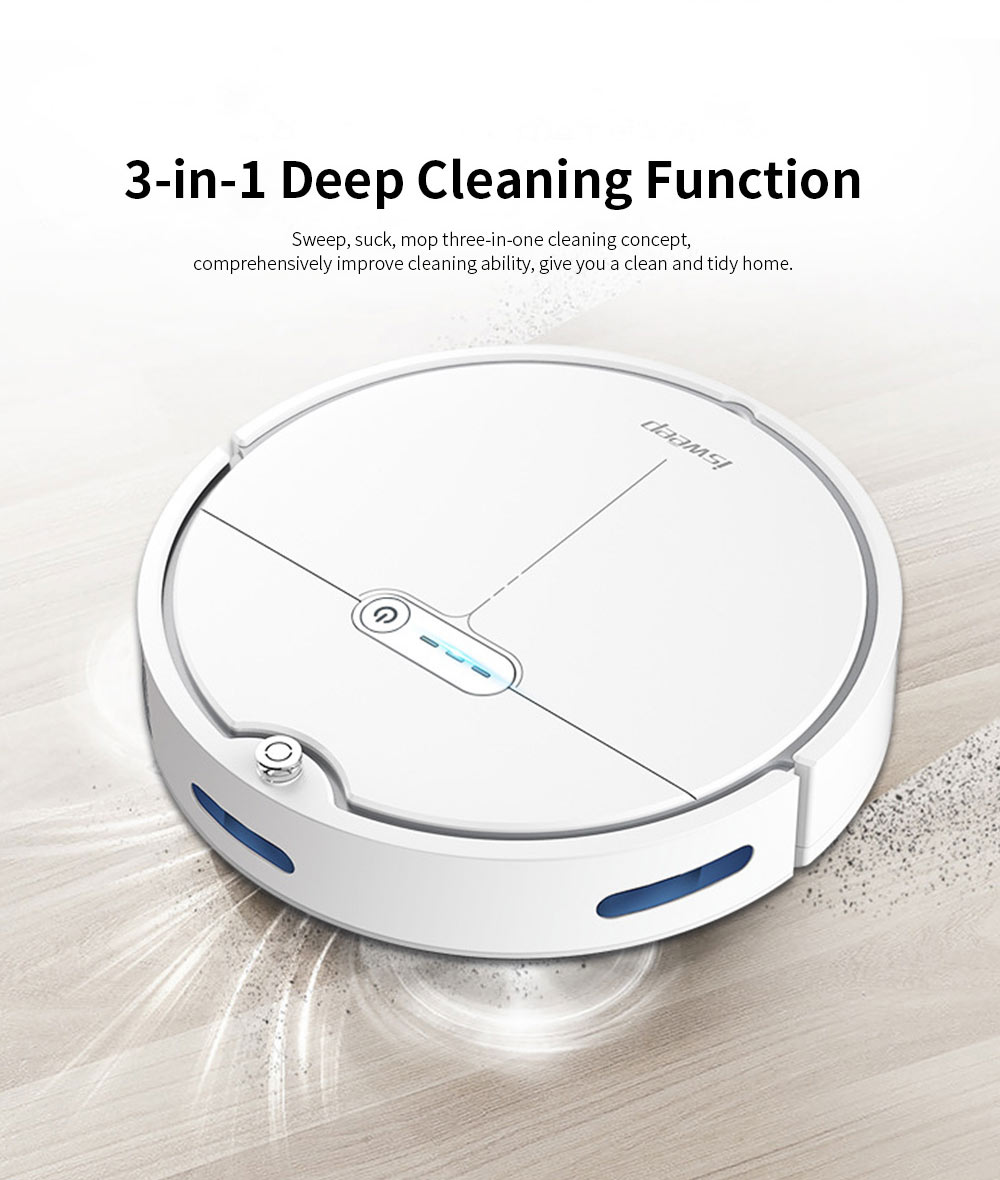 Sweeping Robot Automatically Recharge Cleaner with 1200Pa Strong Suction Remote Control Anti-Collision Sensor for House Cleaning 2