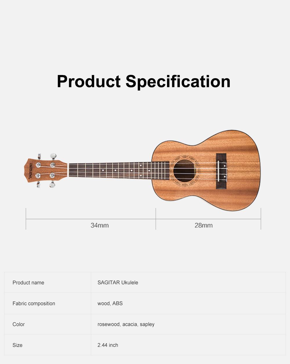 Originality Ukulele Four String 23 inch Guitar with High Level Rose Wood & Head Easy Leaning Ukulele Gift for Beginner 8
