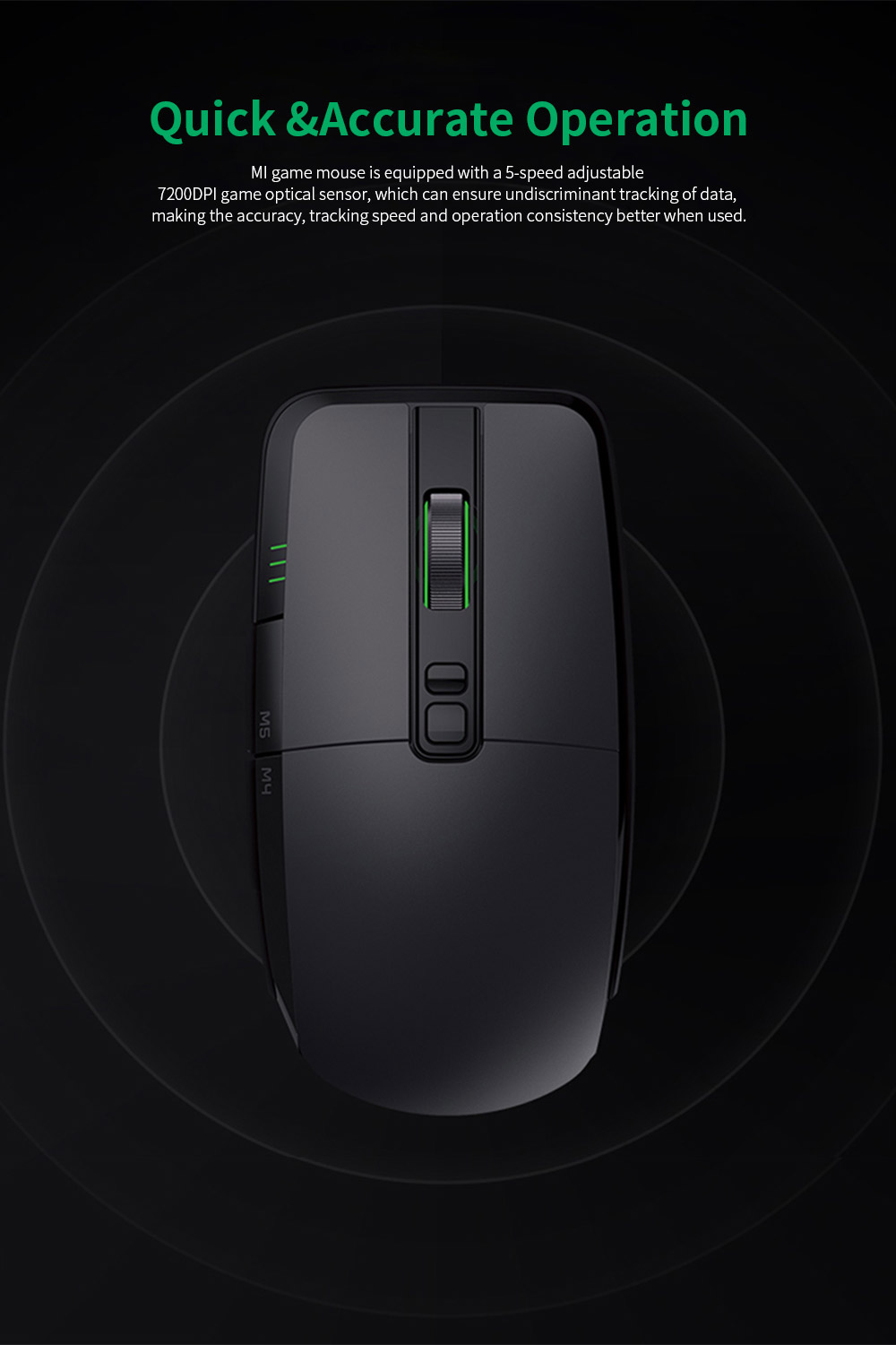 Xiaomi Gaming Mouse 7200DPI Wired Wireless Dual Mode Computer Mouse with Ergonomics Design and RGB Colorful Lights 2