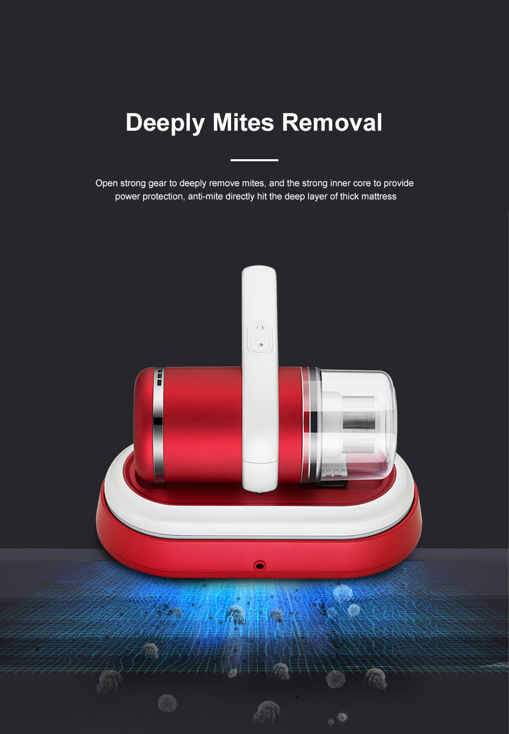 Home Use Wireless Mite Remover Handheld UV Sterilization Cleaner for Bed Bedroom Sofa Clothes Anti Dust Mite Device 1