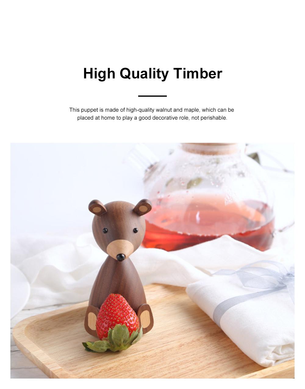 Nordic Creative Puppets Walnut Bears Danish Squirrels Creative Home Furnishings Birthday Gifts 3