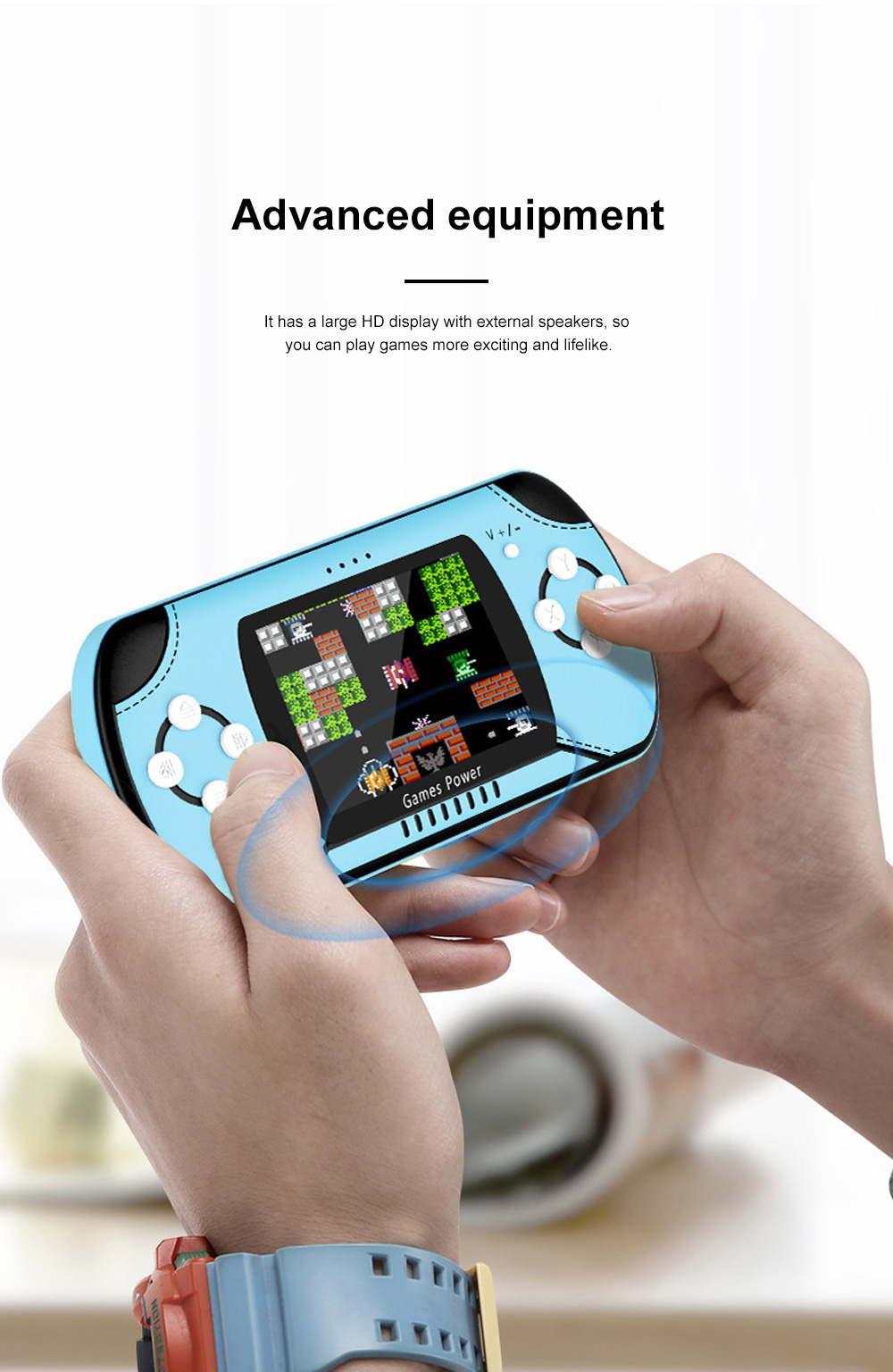 Dual Use Retro Game Machine Charger Palm Nostalgic Game Machine Portable Large Capacity Wireless Mobile Power Charger 2