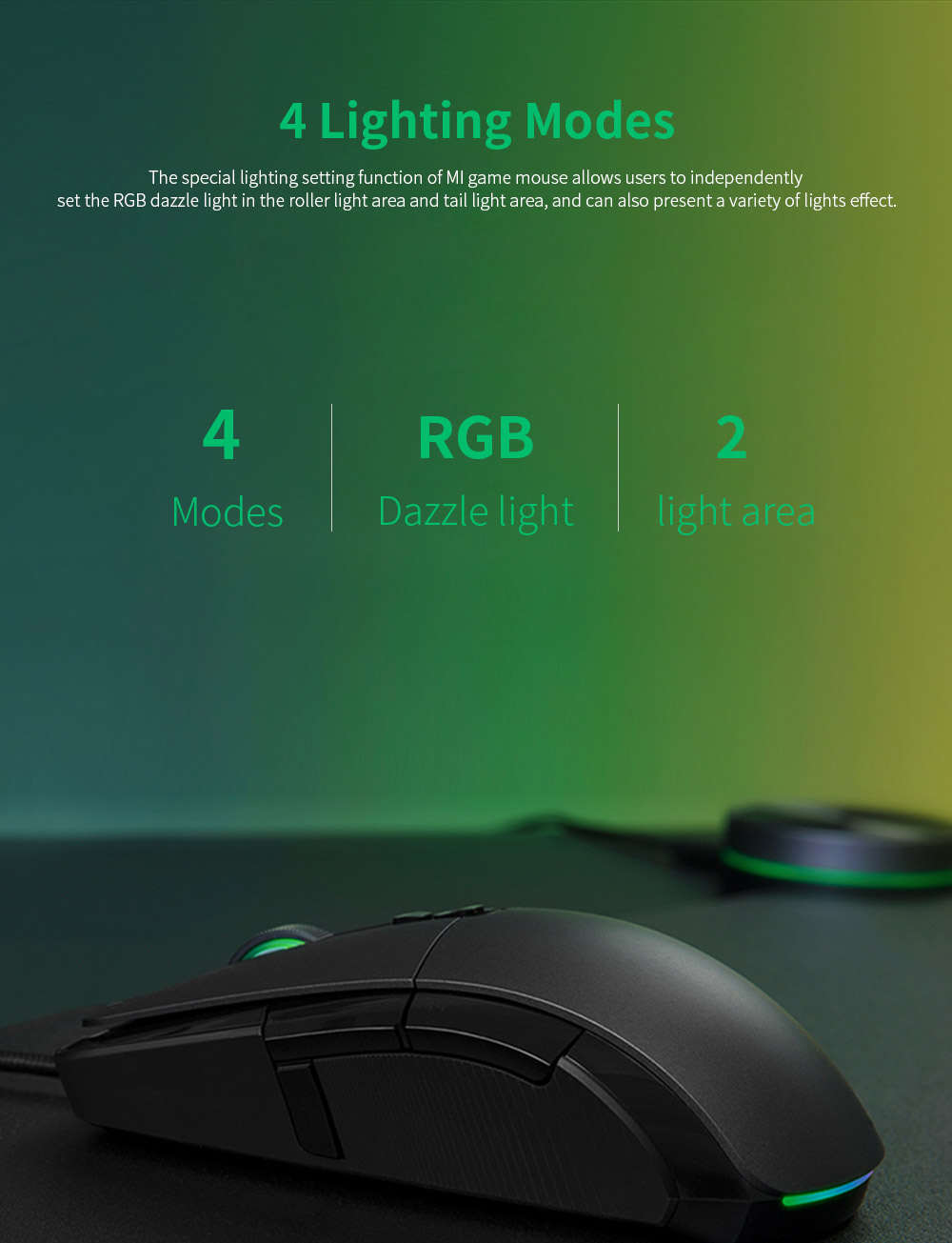Xiaomi Gaming Mouse 7200DPI Wired Wireless Dual Mode Computer Mouse with Ergonomics Design and RGB Colorful Lights 4
