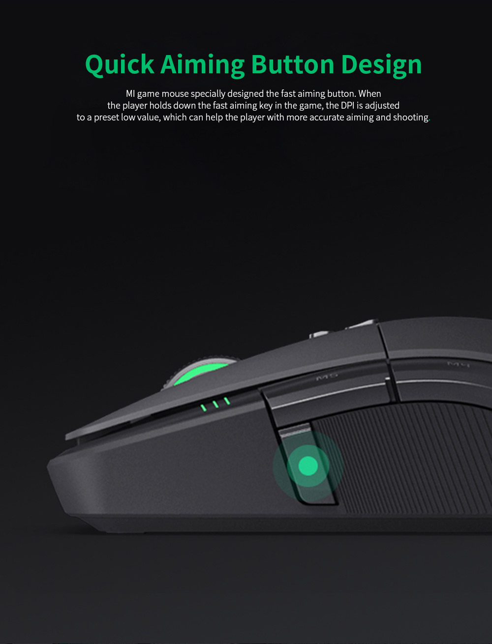 Xiaomi Gaming Mouse 7200DPI Wired Wireless Dual Mode Computer Mouse with Ergonomics Design and RGB Colorful Lights 6