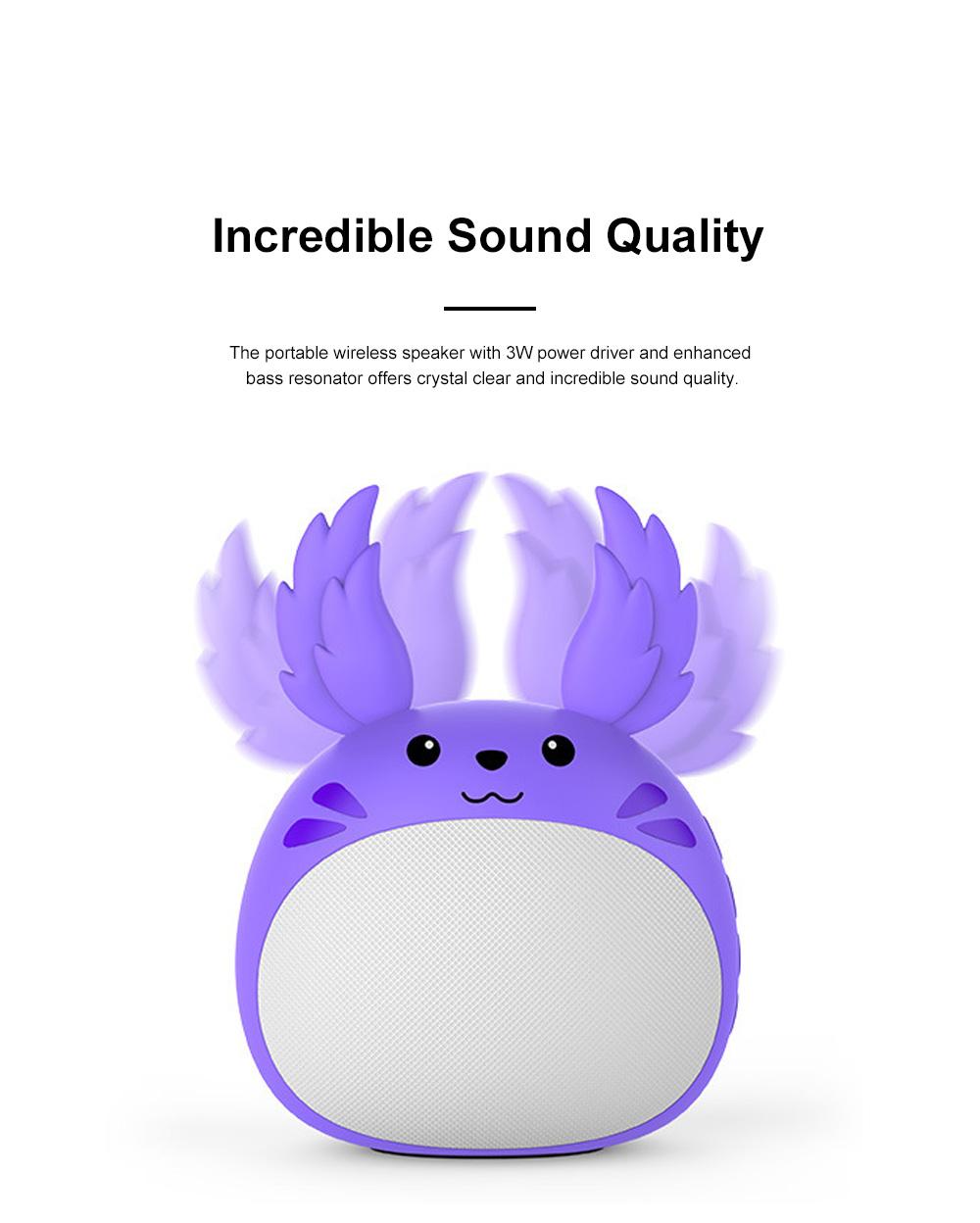 Portable Bluetooth Speaker Stereo Pairing Speaker High Definition Sound Cute Cartoon Wireless Speaker Ideal Gift for Girls Kids 5