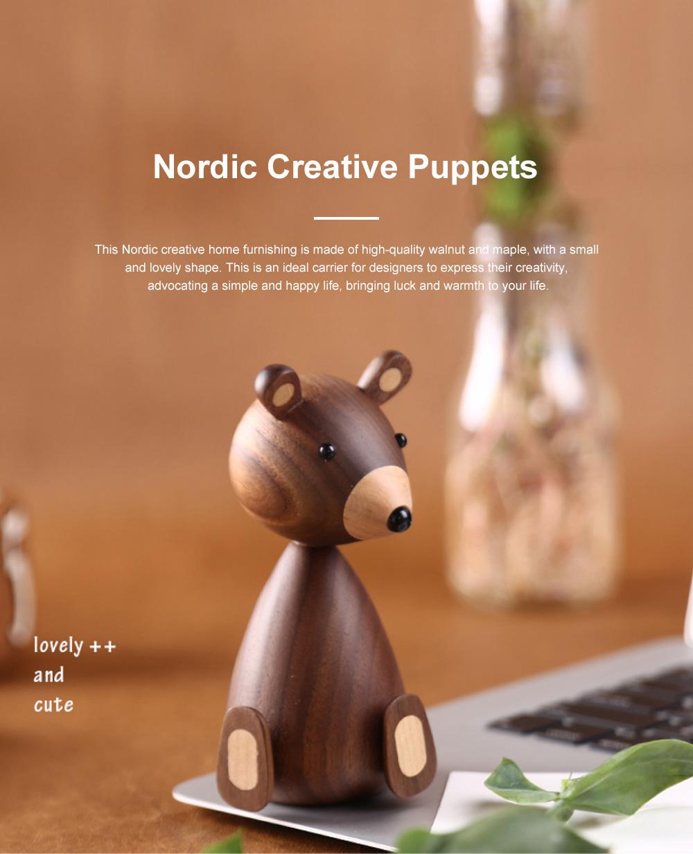 Nordic Creative Puppets Walnut Bears Danish Squirrels Creative Home Furnishings Birthday Gifts 0