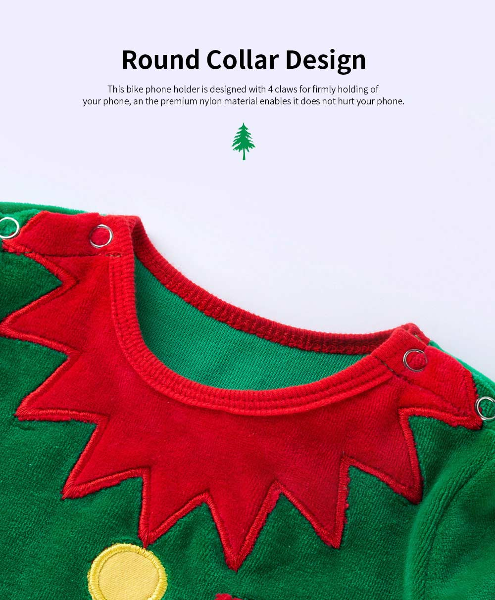 Christmas Elf Costume Green One-Piece Unisex Costume for 0-2 Baby with Long Sleeves and Cute Hat 2pcs 2