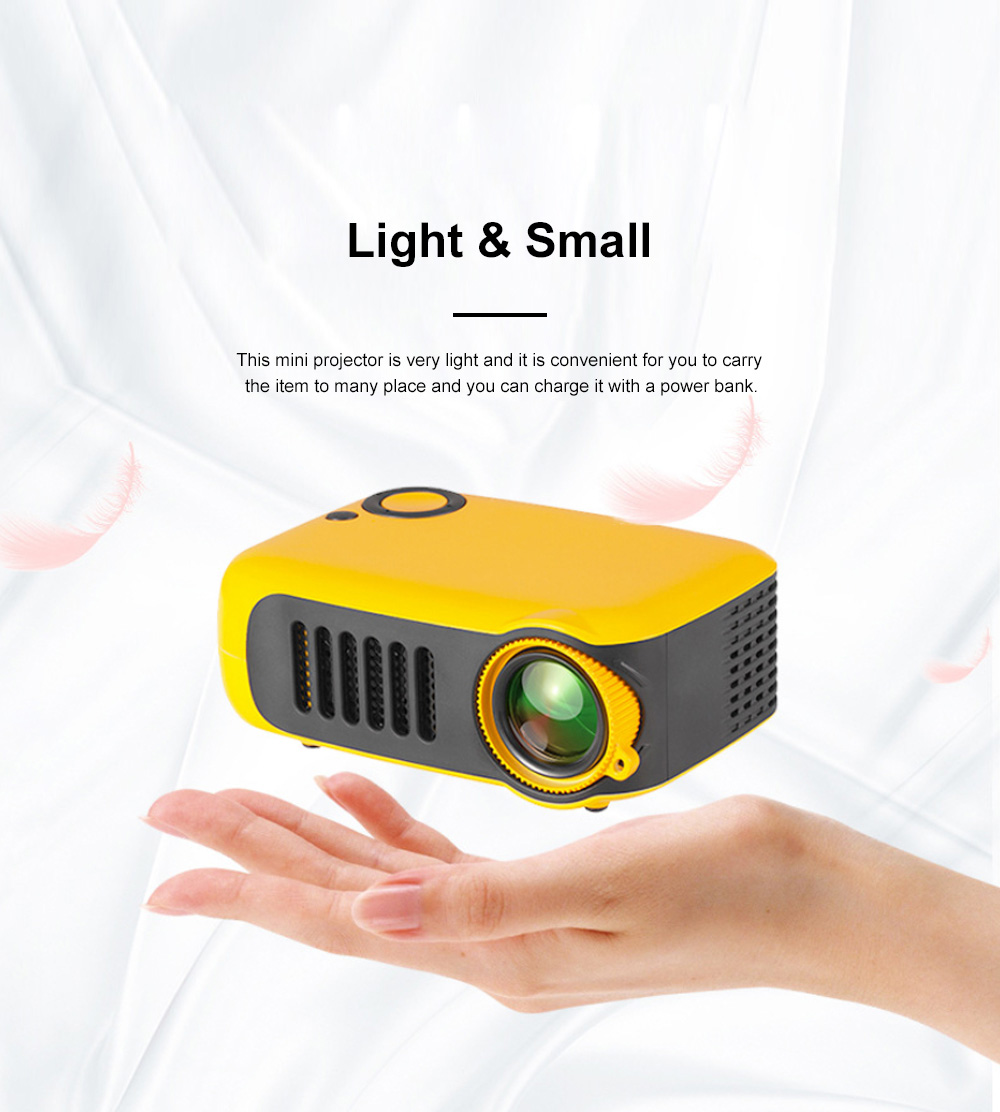 A2000 Mini Portable Household High Lightness Desktop Projector HD 1080P Projection with Wide Compatibility 3
